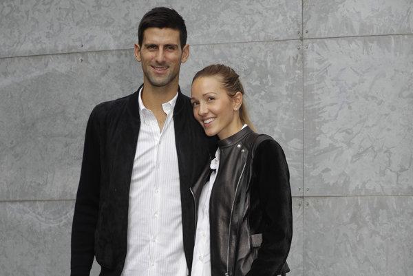 Novak Djokovič so svojou manželkou Jelenou.
