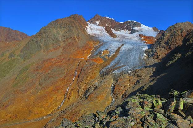 Posledný pohľad na Wildspitze z Wildes Mannle