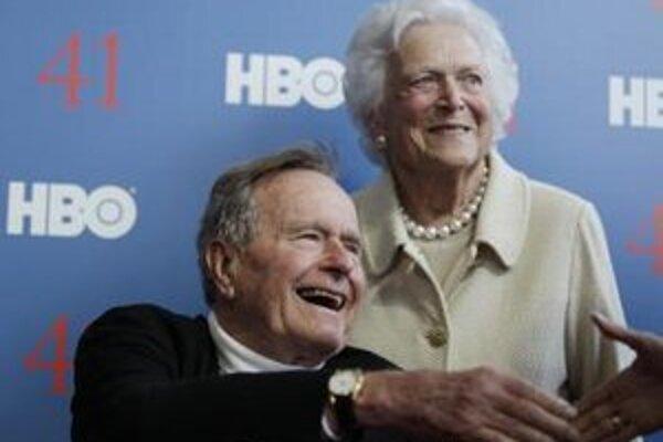 George Bush s manželkou Barbarou.