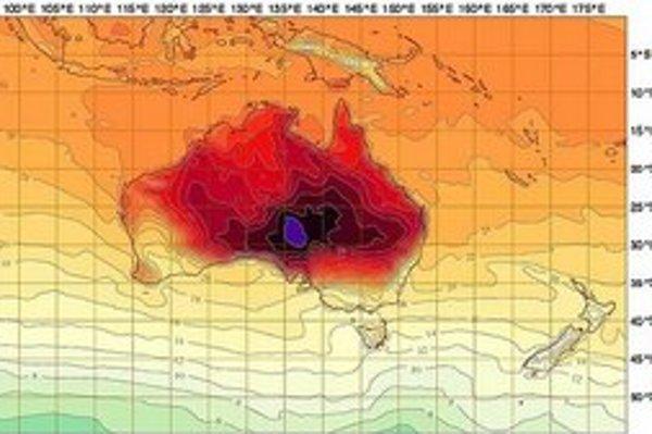 Meteorológovia museli pridať k farbám fialovú.
