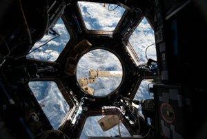 Kupola na Medzinárodnej vesmírnej stanici.
