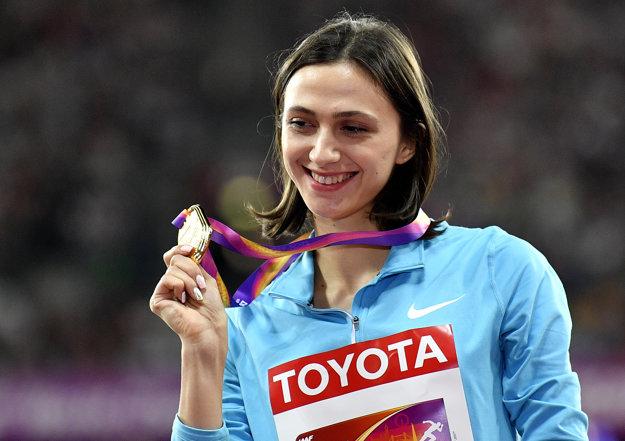Ruská výškarka Maria Lasickiené sa stala v Londýne majsterkou sveta. Štartovala však pod hlavičkou Autorizovaných nezávislých atlétov a nezahrali jej národnú hymnu.