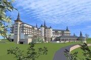 Vizualizácia wellness hotela Čajka.