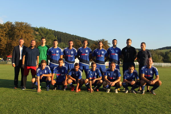 Futbalisti MFK Bytča po zápase s FC Nitra.