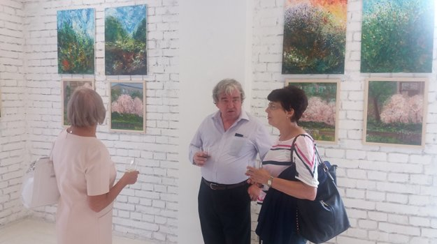 Najskúsenejší výtvarník Vladimír Kuruc v súčasnosti sám vedie výtvarné kurzy.