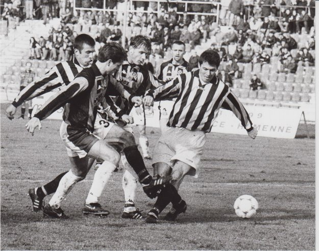 Rok 1999. Súboj 1. FC - Bardejov.