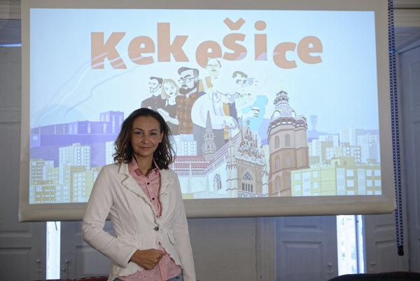 Nezávislá poslankyňa NR SR Alena Bašistová predstavila počítačovú volebnú hru s názvom Kekešice počas tlačovej besedy na tému: komunálne voľby do Košického samosprávneho kraja (KSK).