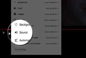 Stlmenie zvuku v Google Chrome.