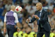Zinedine Zidane, tréner Realu Madrid.
