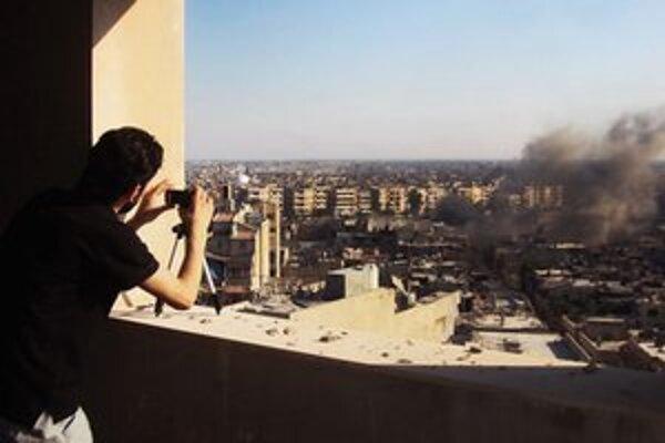 Bombardovanie mesta Homs.