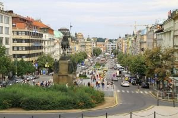 Václavské námestie v Prahe.
