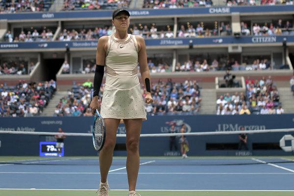 Ruská tenistka Maria Šarapovová skončila na US Open v osemfinále.