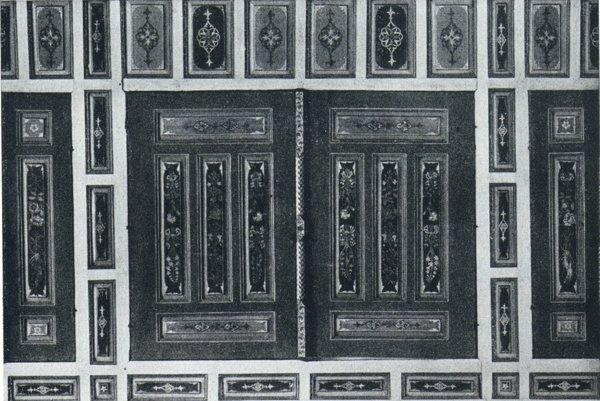 Časť vnútornej výbavy Rákocziho domu po reštaurovaní v roku 1941.