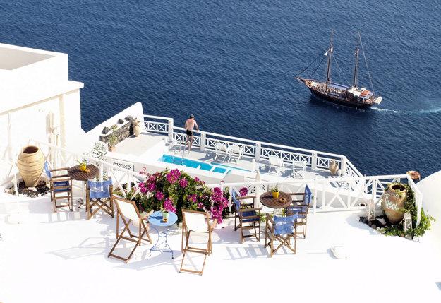 Santorini, Grécko.