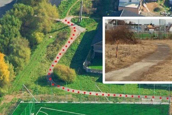 Mesto Poprad zrekonštruuje chodník od tenisových kurtov pri základnej škole po lávku cez Velický potok.