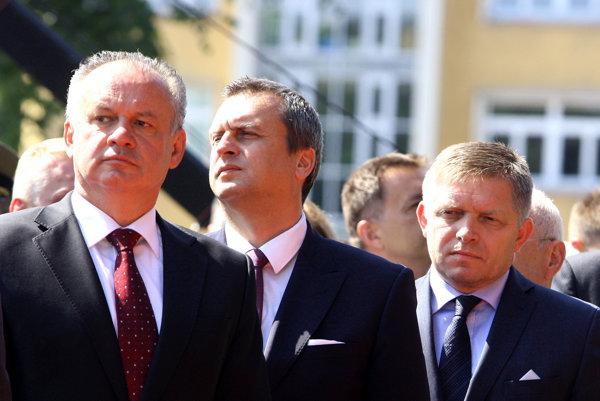 Prezident Kiska, šéf NR SR Danko a premiér Fico.