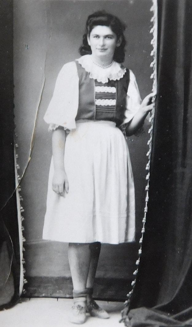 Židovské dievča Mariana, ktorá sa u Bednárovcov skrývalo.