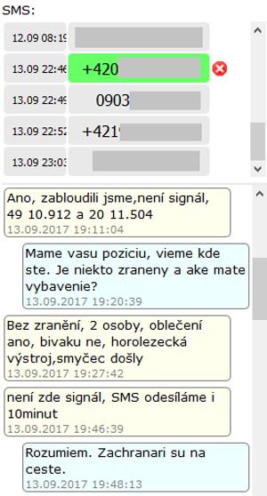 Komunikácia pomocou aplikácie.