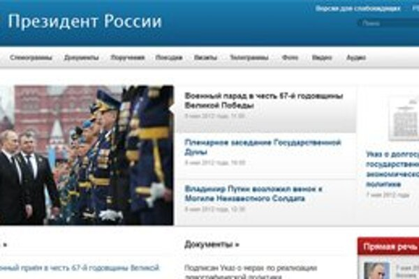 Web kremlin.ru.