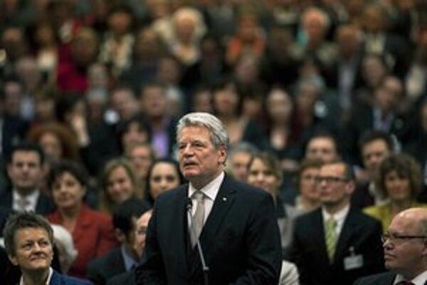 Joachim Gauck po svojom zvolení v Berlíne.