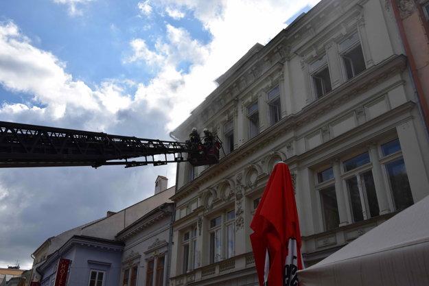 Zásah hasičov.