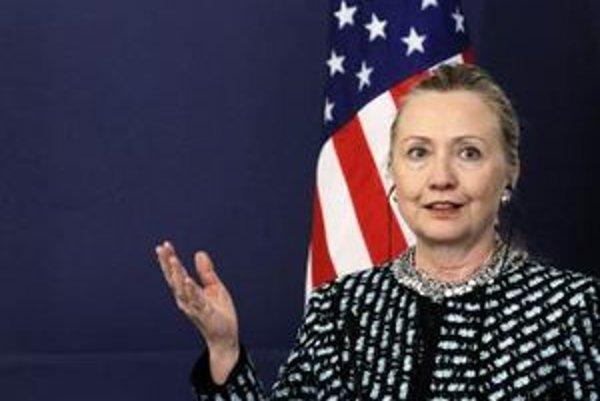 Ministerka zahraničných vecí USA Hillary Clintonová.