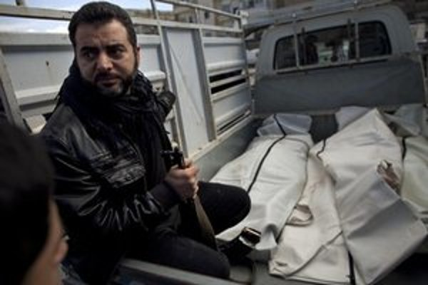 Obete bojov v meste Idlib.