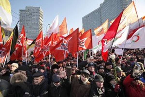 Demonštrácie proti Putinovi.