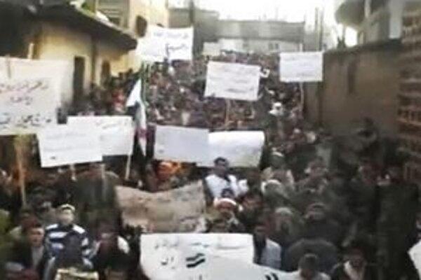 Protesty v meste Hamá.