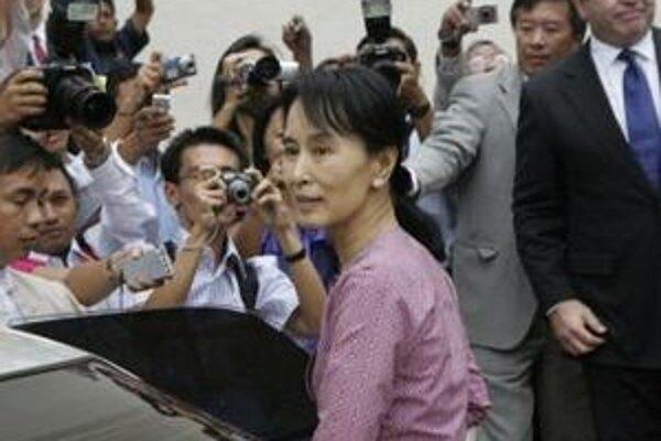 Líderka mjanmarskej opozície Su Ťij.