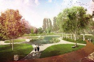 Vizualizácia parku Jama na Tehelnom poli.