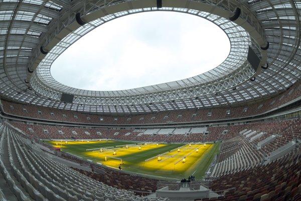 Štadión Lužniki v Moskve.