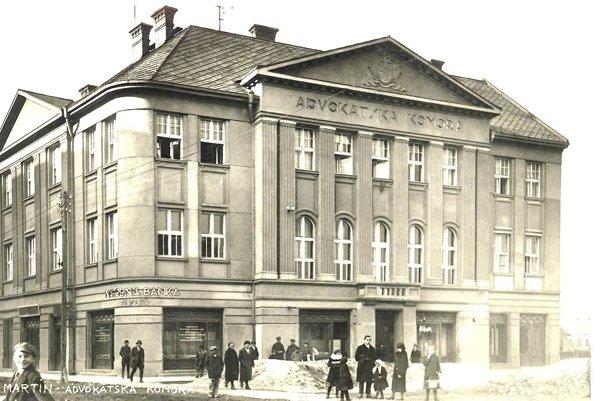 V budove Advokátskej komory mala svoju pobočku i Národná banka.