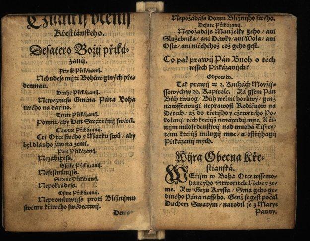 Bardejovský katechizmus – unikátny jediný výtlačok na svete uchováva SNK.