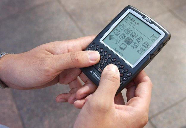 Smartfón BlackBerry.
