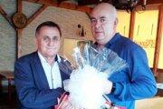 Milanovi Vrábelovi blahoželal predseda ObFZ Štefan Korman.