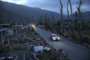 Zničené Portoriko po hurikáne Maria.
