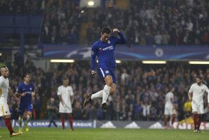 Eden Hazard sa raduje zo svojho gólu.