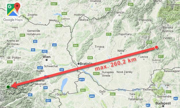 Dovideli 260,2 kilometra ďaleko.