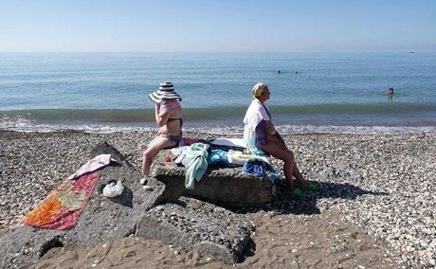 Na pláži v Suchumi