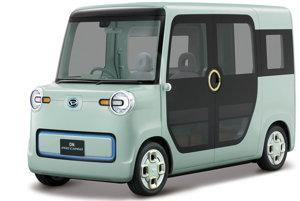 Daihatsu DN Pro Cargo - Táto malá elektrická dodávka bola navrhnutá pre všestranné využitie, môže slúžiť na prevoz tovaru, ale aj ako pojazdná kaviarnička. Inšpiráciou je populárny model Daihatsu Midget z roku 1957.