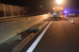 Miesto nehody na rýchlostnej ceste R1 pri Nitre.