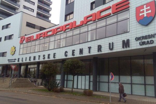 Klientské centrum v budove Europalace.