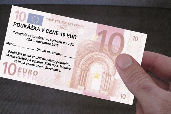 Túto poukážku dostane v sobotu každý Slovák, ktorý sa zúčastní volieb.