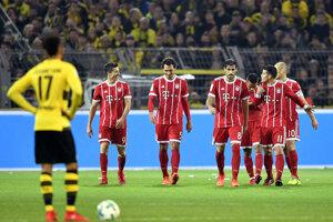 Hráči Bayernu Mníchov sa radujú po jednom z gólov.