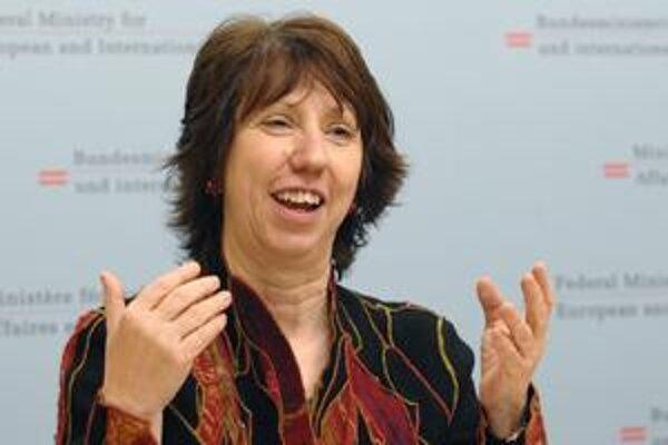 Šéfka európskej diplomacie Catherine Ashtonová.