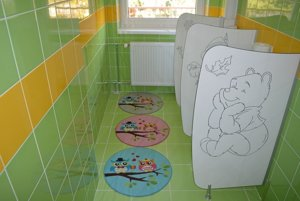 Toalety po rekonštrukcii.