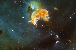 Pozostatok supernovy N 63A.