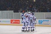 Medzi najlepšiu osmičku v Lige majstrov postúpili aj hokejisti Komety Brno. Ilustračná fotografia.