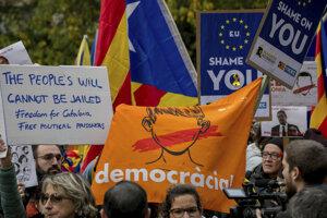 Demonštrácie v Bruseli.